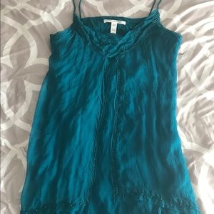 Diane Von Furstenberg teal dress